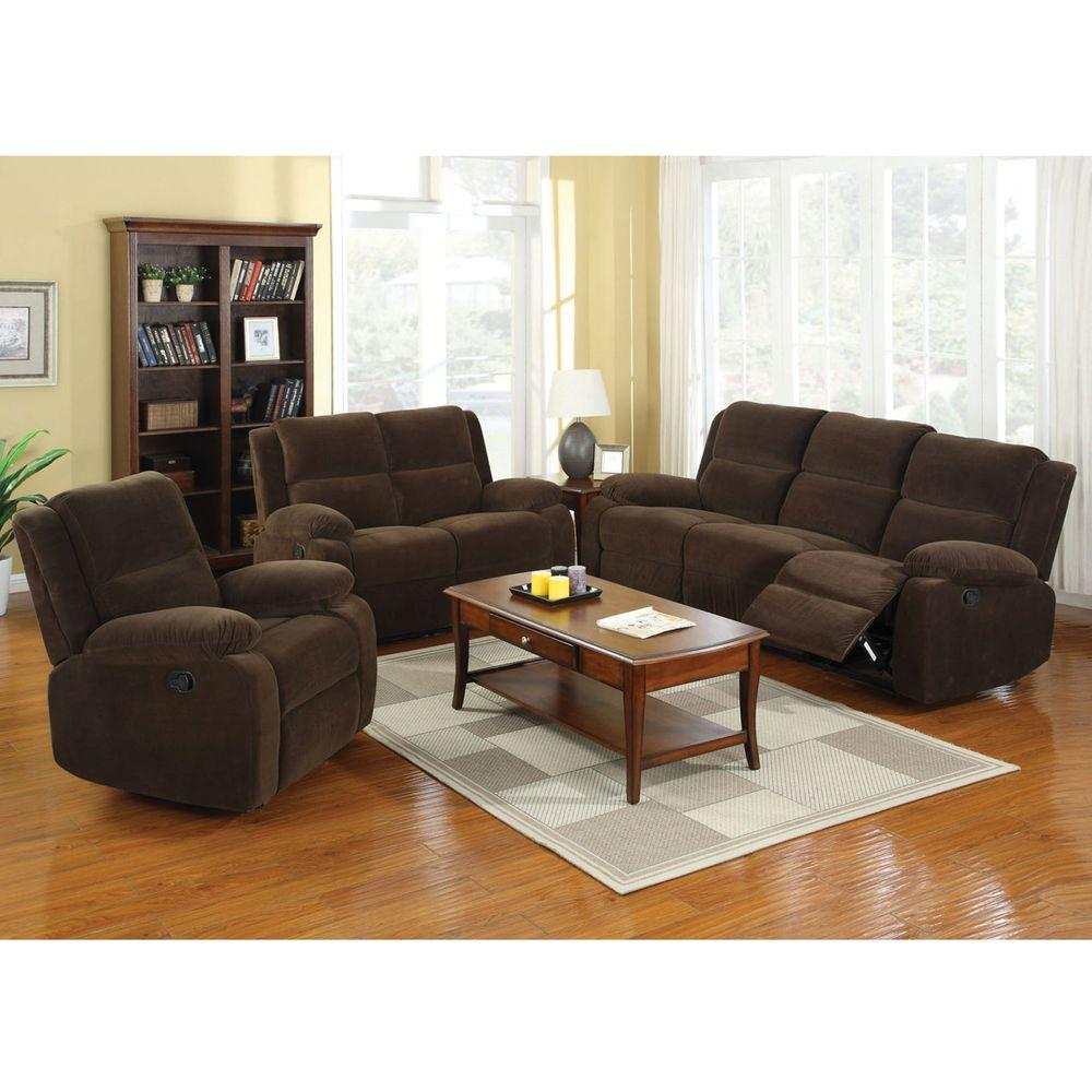 Furniture of america haven dark brown flannelette loveseat cm6554 lv the home depot Home furniture usa nj