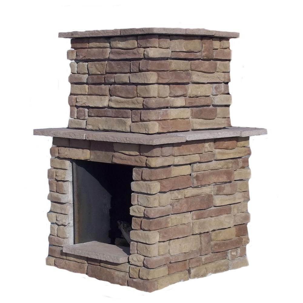60 in. Random Brown Windsor Outdoor Fireplace