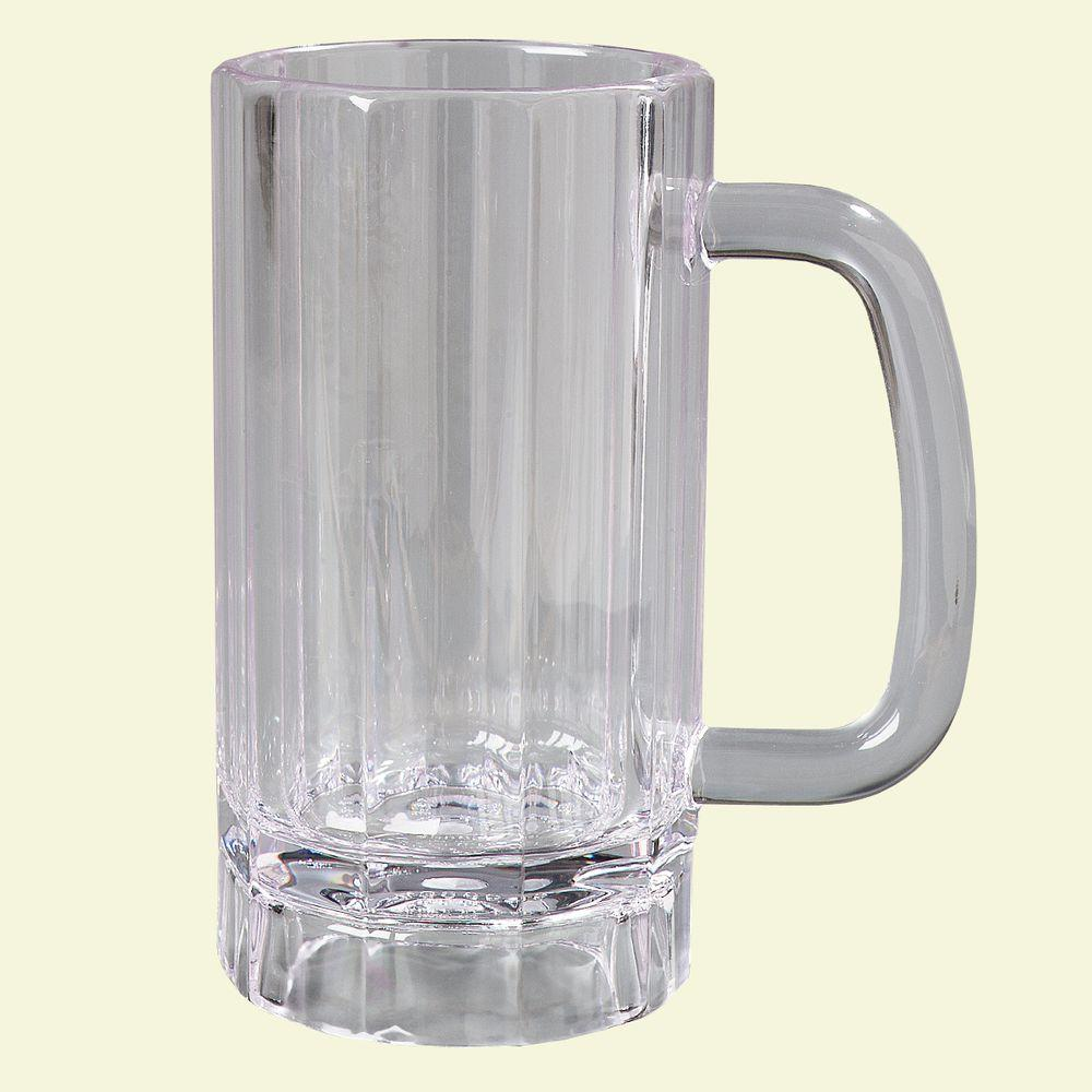 Carlisle 16 oz. Polycarbonate Handled Mug in Clear (Case of 12)