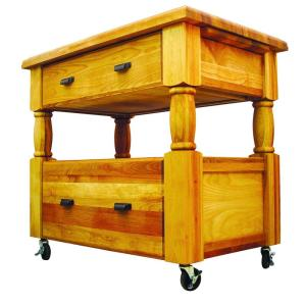 Catskill Craftsmen Island Europa Natural Kitchen Cart With Storage by Catskill Craftsmen
