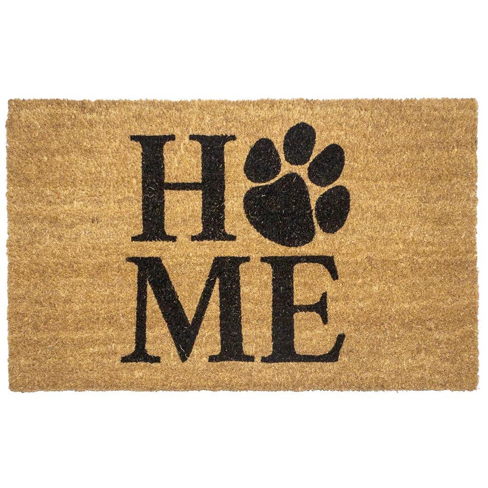 Pet Home 17 in. x 28 in. Non-Slip Coir Door Mat
