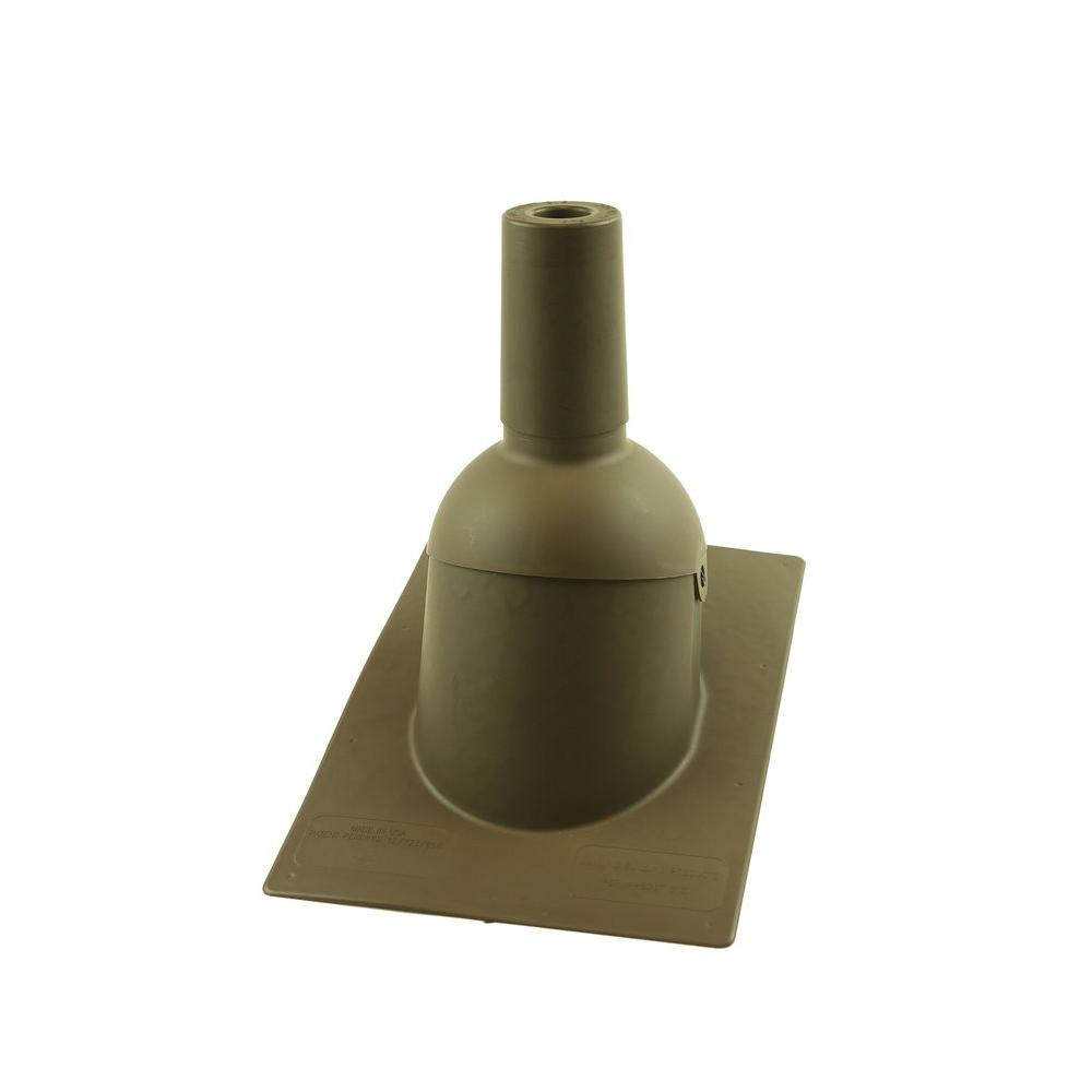 Perma-Boot Pipe Boot for 1.5 inch I.D. Vent Pipe Brown Color New Construction/Reroof