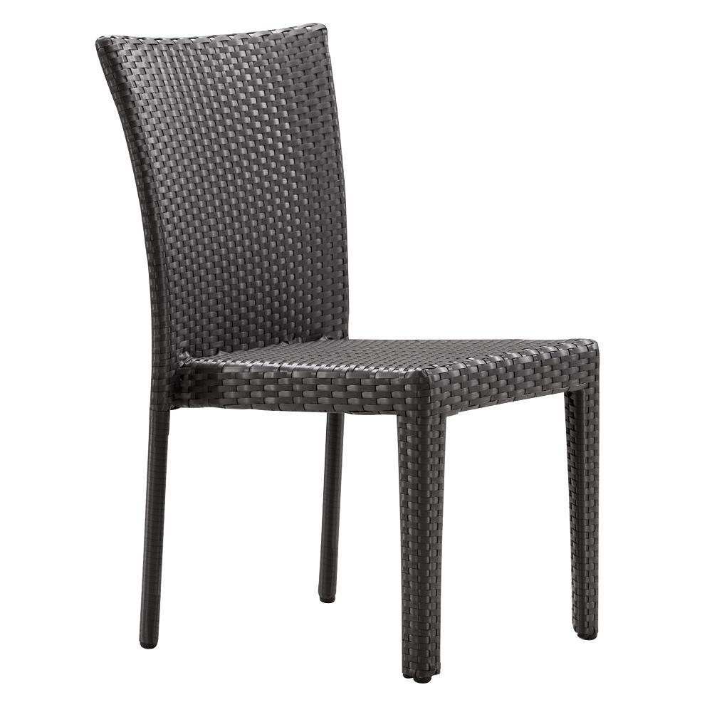 Arica Espresso Wicker Outdoor Patio Dining Chair