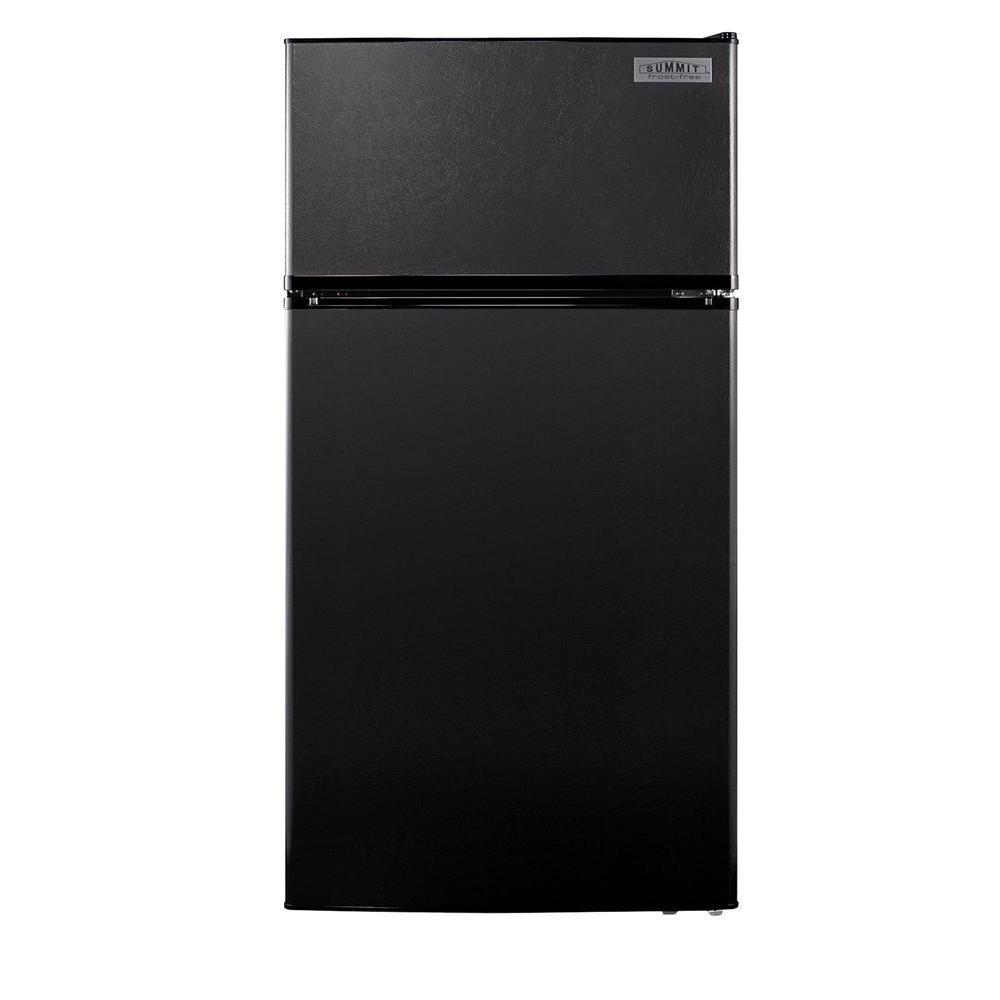 Summit Appliance 10.3 cu. ft. Top Freezer Refrigerator in Black