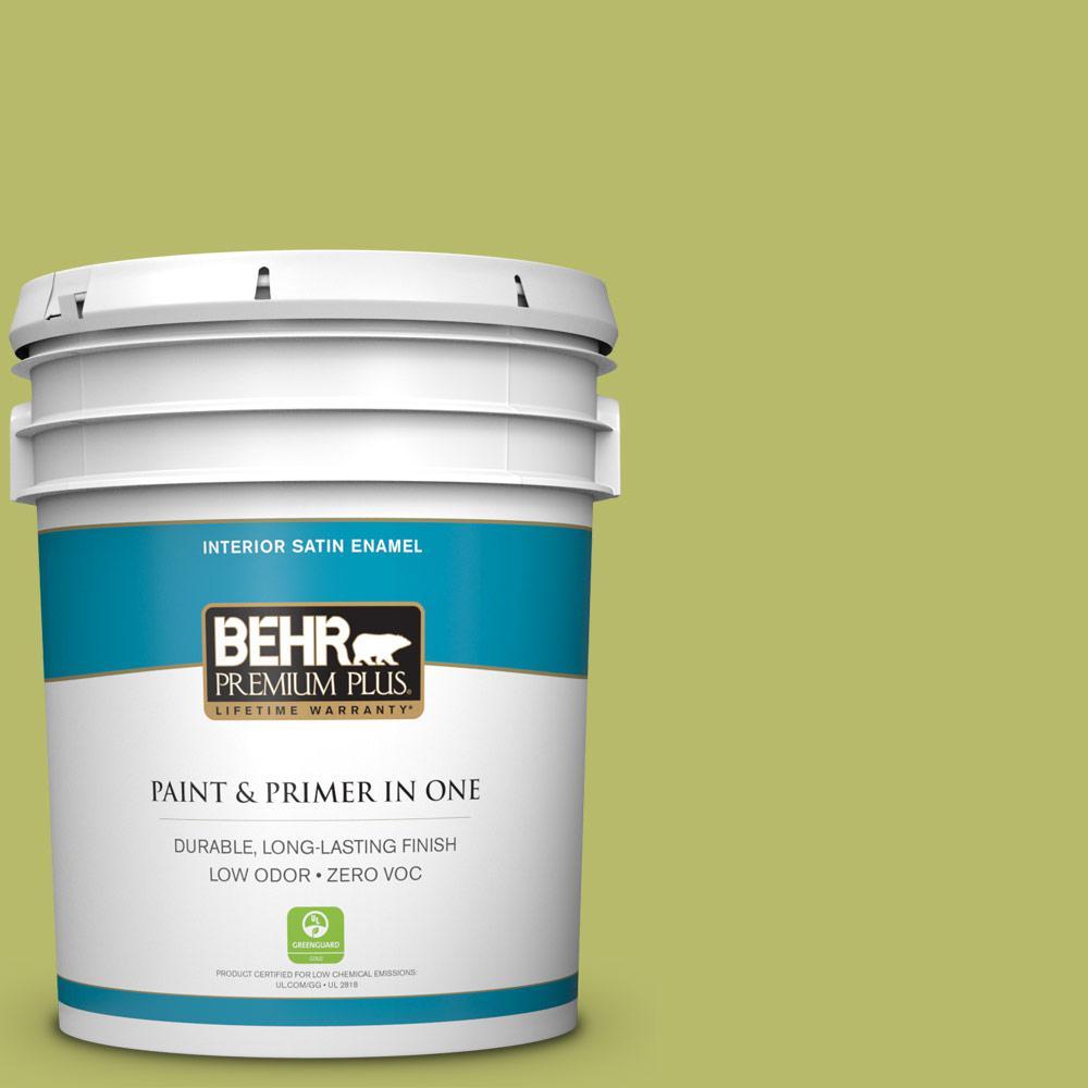 5-gal. #P360-5 Citrus Peel Satin Enamel Interior Paint