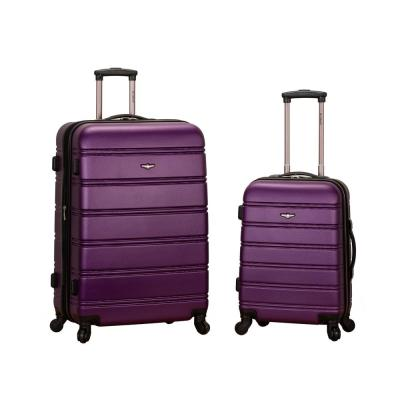 Rockland Melbourne Expandable 2-Piece Hardside Spinner Luggage Set, Purple
