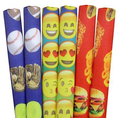Sports, Emojis, Foods Pool Noodles (6-Pack)