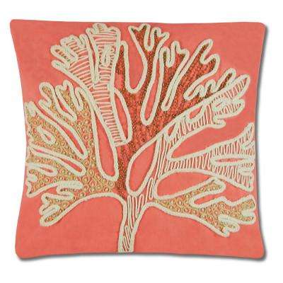 Beaded Coral Pillow