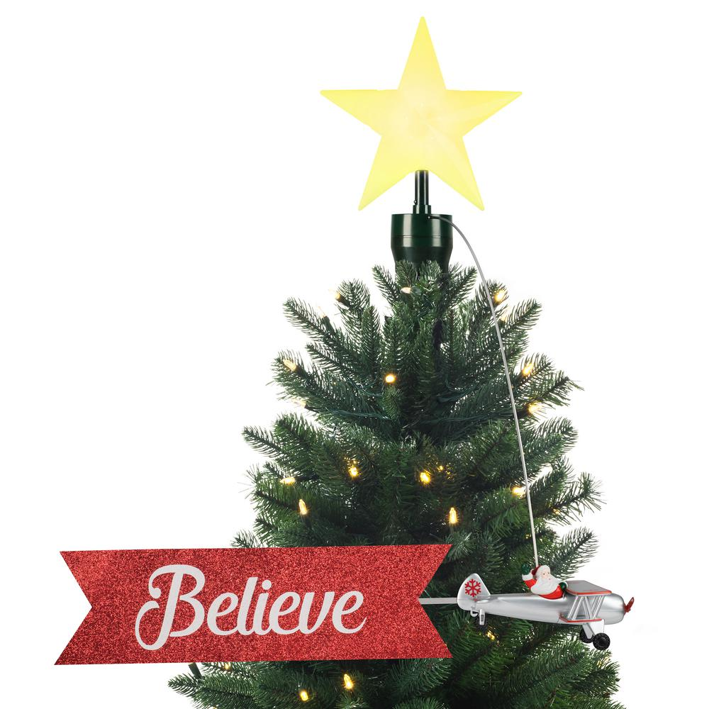 Christmas Tree Toppers.Mr Christmas 22 In Biplane Animated Tree Topper