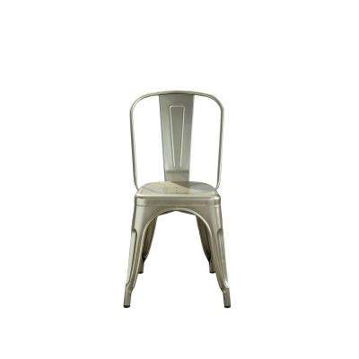 Jakia Glossy Champagne Side Chair