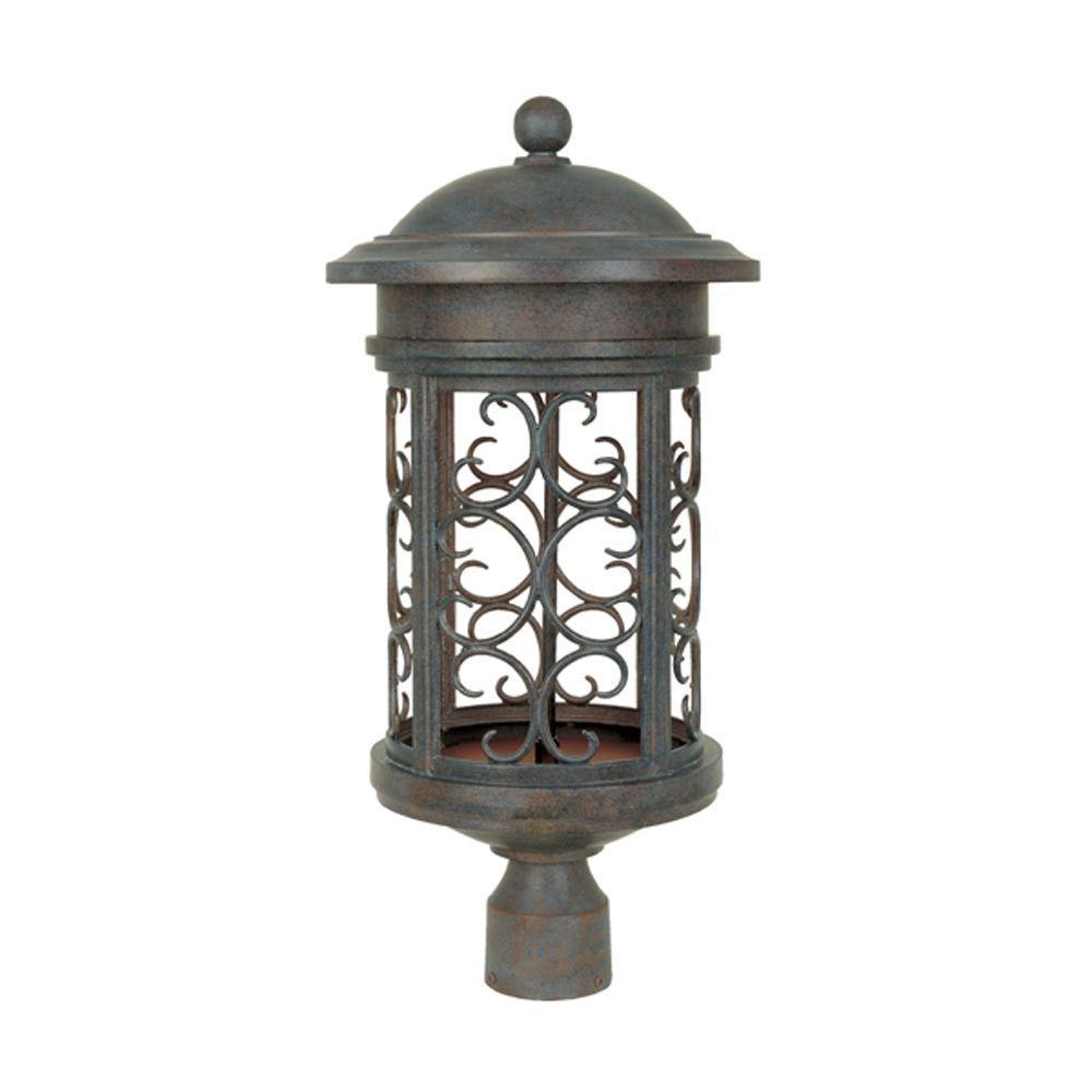 Chambery Mediterranean Patina Outdoor Post Lantern