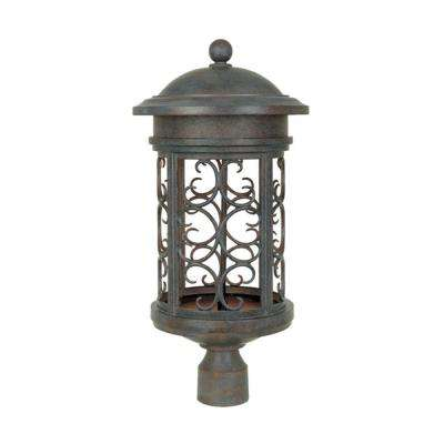 Chambery Mediterranean Patina Outdoor Post Lantern