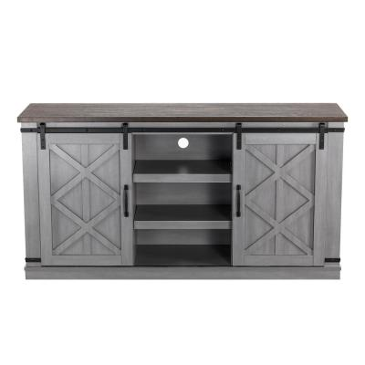 """58 in. Gray TV Stand for TVs up to 65"""""""