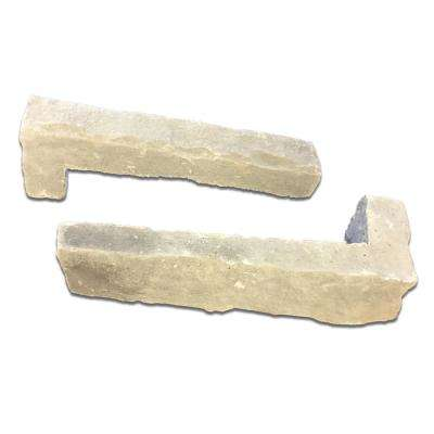 Buckeye Ledgestone Corners 4 in. to 12 in. x 2.5 in. x 4 in. Manufactured Stone Ledgestone Corners 8 lf. ft. Pack