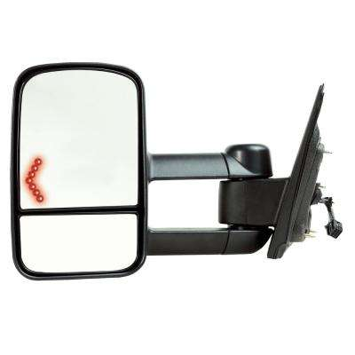 Towing Mirror for 14-17 Silverado/Sierra 15-17 25003500 Textured Black with Signal 1st Design Foldaway LH