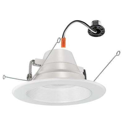 6 in. Lumen and Color Changeable White Integrated LED Recessed Downlight Trim