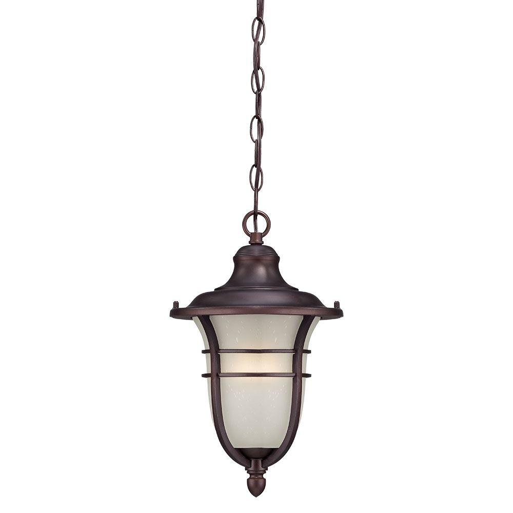 Montclair Collection 1-Light Architectural Bronze Outdoor Hanging Lantern