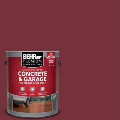 1 gal. #PPF-01 Tile Red Self-Priming 1-Part Epoxy Satin Interior/Exterior Concrete and Garage Floor Paint