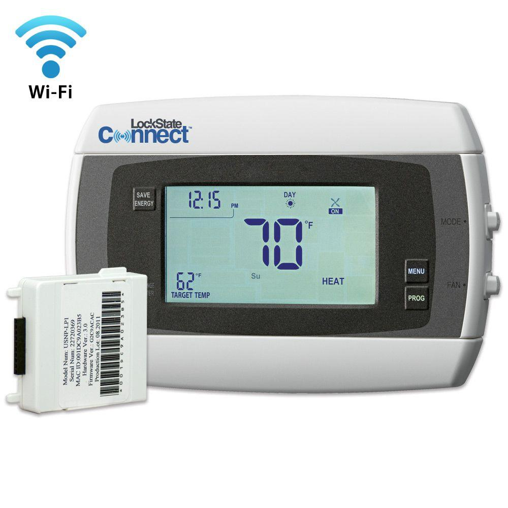 Home Depot Wifi Internet 7 Day Programmable Thermostat