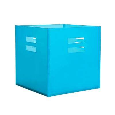 12.5 in. x 12.5 in. Aqua Plastic Storage Crate Drawer