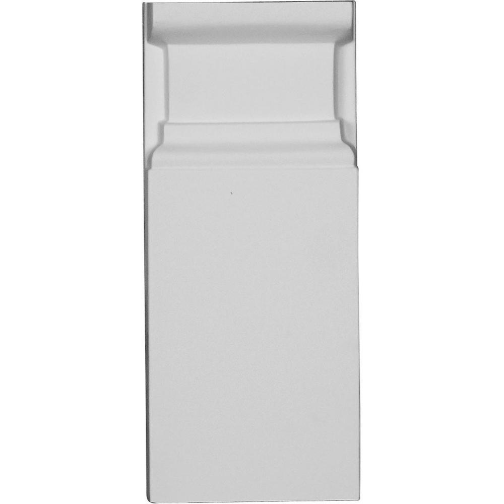 1-1/8 in. x 3-3/4 in. x 9-1/8 in. Polyurethane Artisan Plinth