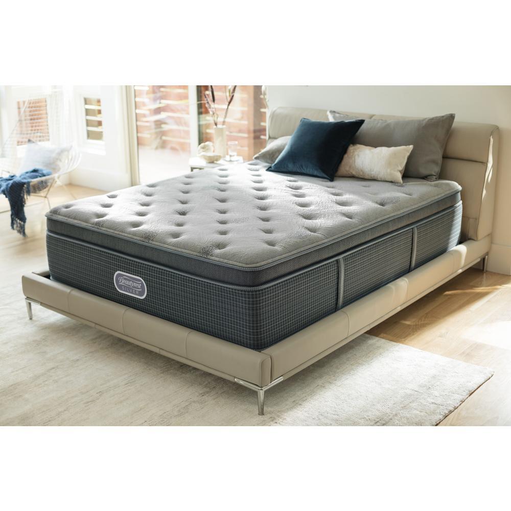 Beautyrest Silver Santa Barbara Cove Full Plush Pillow Top Low Profile Mattress Set