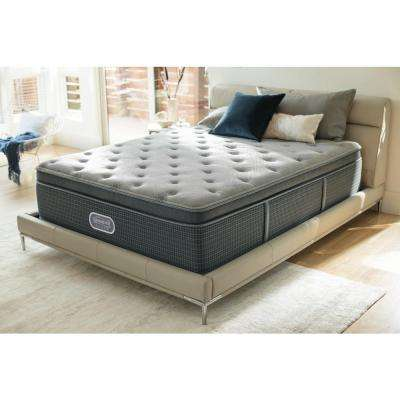 Santa Barbara Cove Queen Plush Pillow Top Low Profile Mattress Set