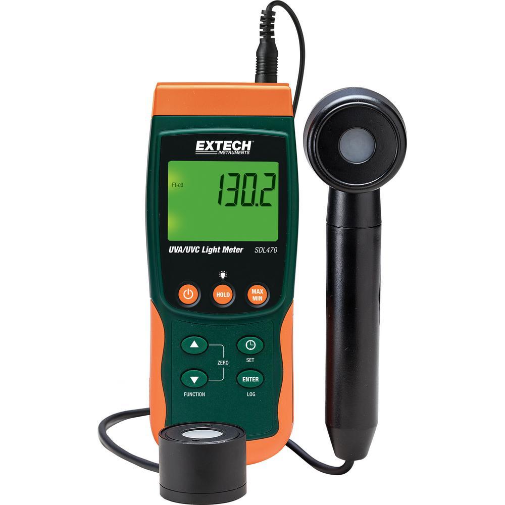 UVA/UVC Light Meter Datalogger with NIST