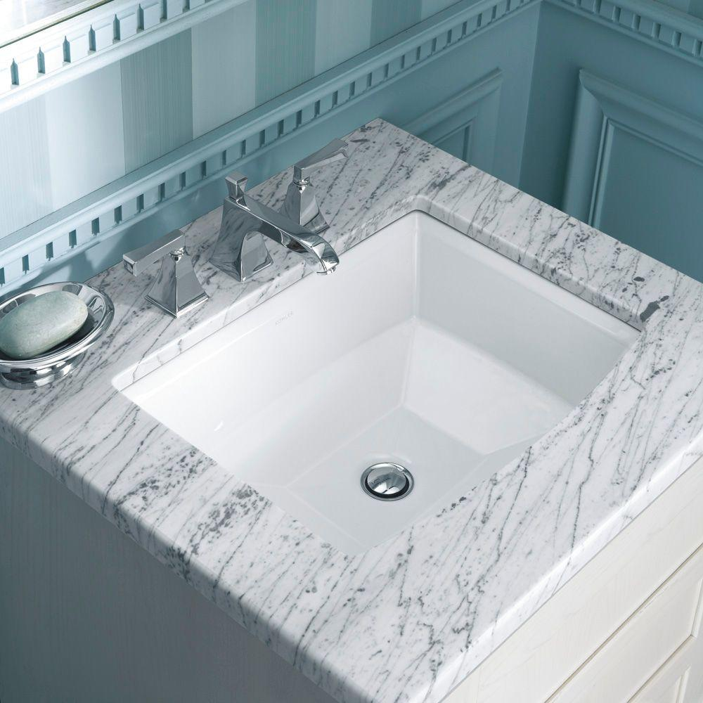 Vitreous China Undermount Bathroom Sink