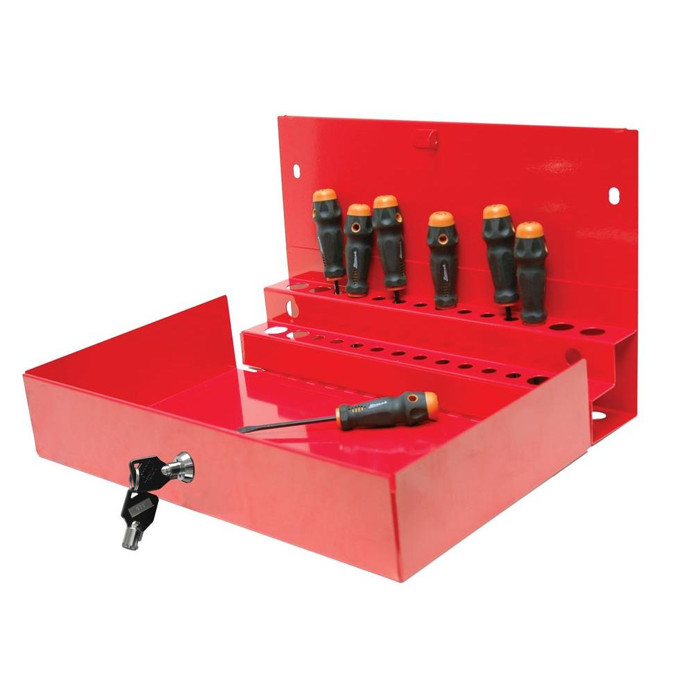 Homak Professional 27 in. Locking Tool Organizer in Red