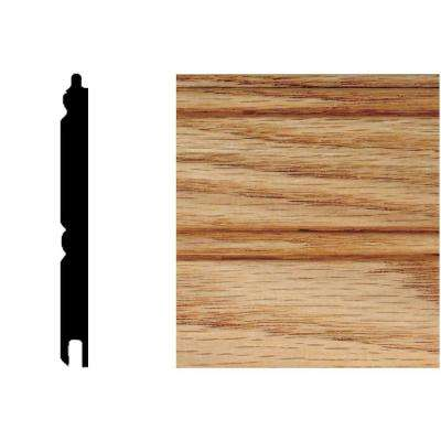 5/16 in. x 3-1/8 in. x 32 in. Red Oak Tongue and Groove Wainscot (1-Piece)