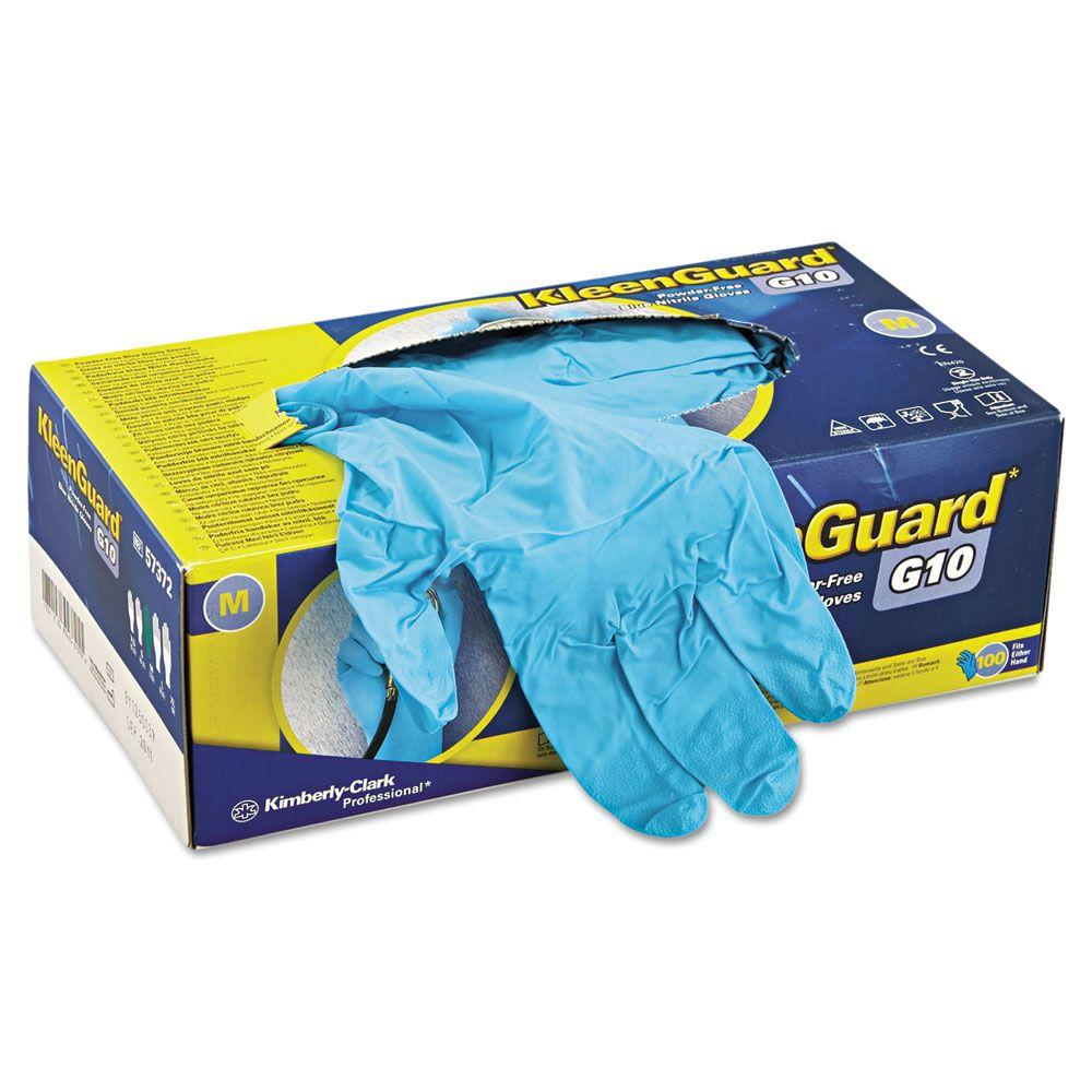 Disposable Blue Nitrile Gloves, Medium (100-Count)