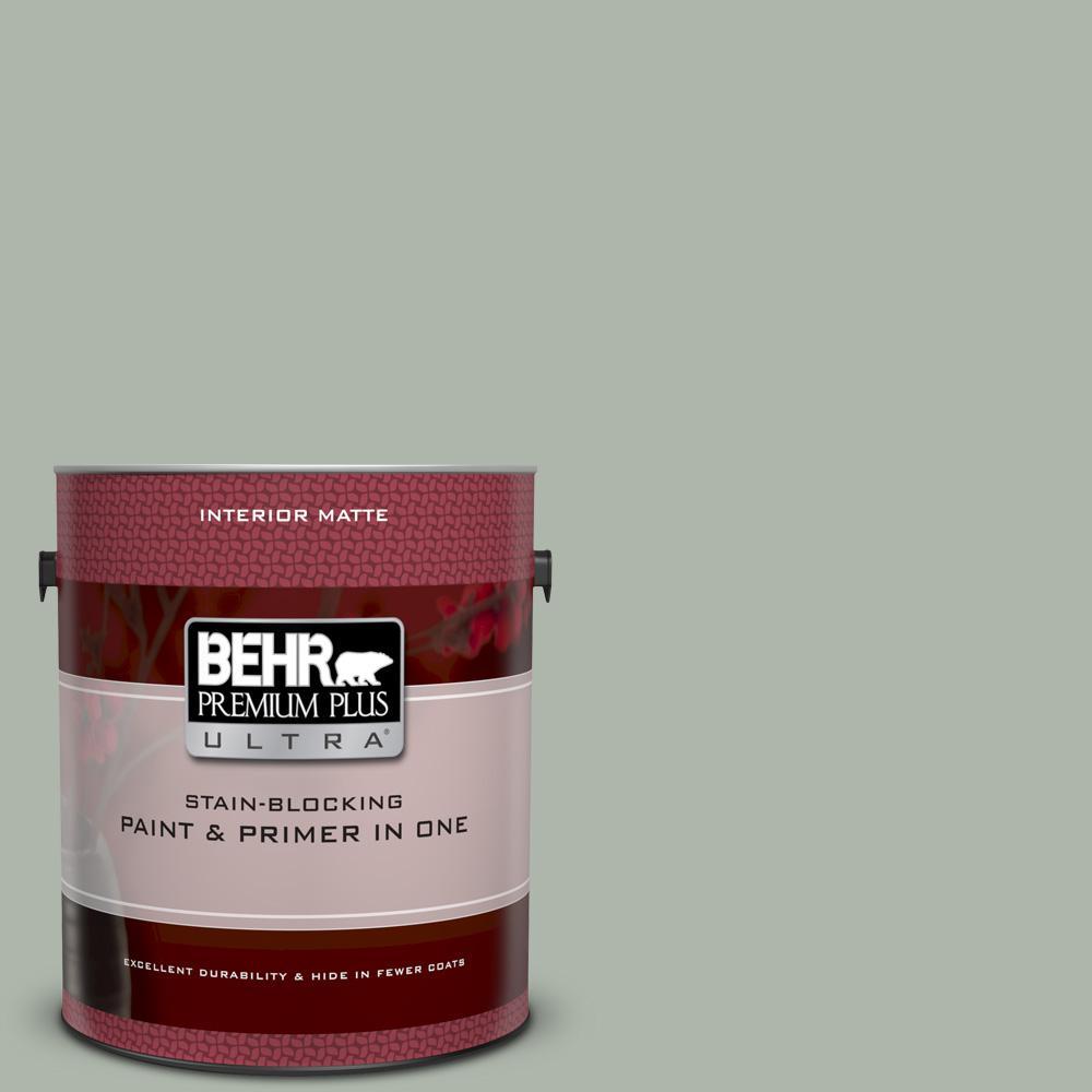 Behr Premium Plus Ultra 1 Gal Icc 56 Green Tea Matte Interior Paint