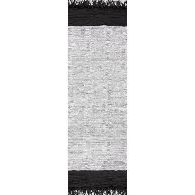 Hayworth Contemporary Silver 3 ft. x 8 ft. Runner