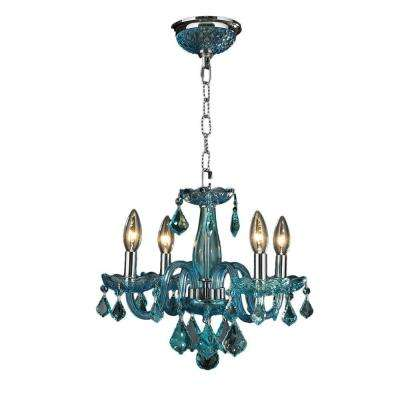 Blue chandeliers lighting the home depot clarion 4 light chrome crystal chandelier aloadofball Gallery