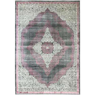 Silky Gold Collection Rose Queen 5 ft. x 8 ft. Anti-Bacterial Area Rug
