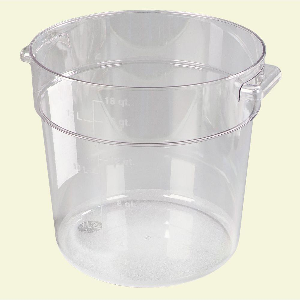 Carlisle 18 qt Polycarbonate Round Storage Container in Clear Case
