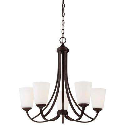 Overland Park 5-Light Vintage Bronze Chandelier