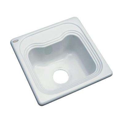 Oxford Drop-In Acrylic 16 in. Single Bowl Entertainment Sink in STERLING Silver