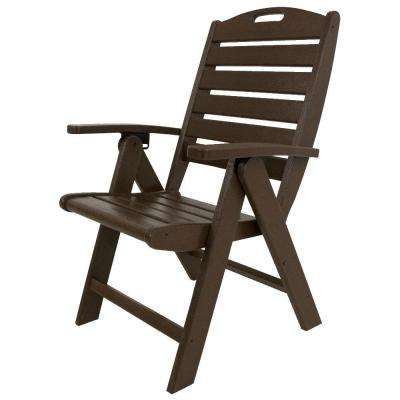 Yacht Club Vintage Lantern Highback Patio Folding Chair