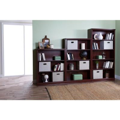 44.75 in. Royal Cherry Faux Wood 3-shelf Standard Bookcase with Adjustable Shelves