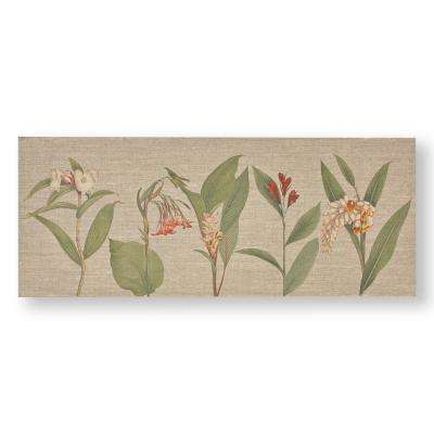"16 in. x 39 in. ""Botanical Bliss"" Printed Canvas Wall Art"