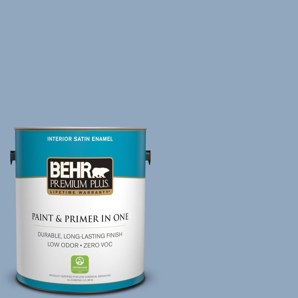 1 gal. #PPU14-08 Paris Zero VOC Satin Enamel Interior Paint
