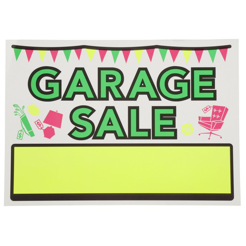 Everbilt 10 In X 14 In Vinyl Garage Sale Sign 31084 The Home Depot