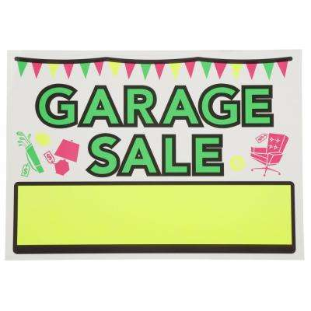 10 in. x 14 in. Vinyl Garage Sale Sign