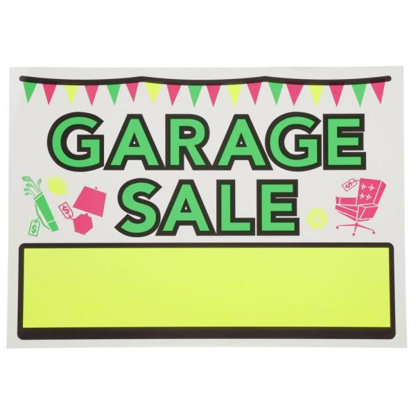 10 in. x 14 in. Vinyl Garage Sale Sign