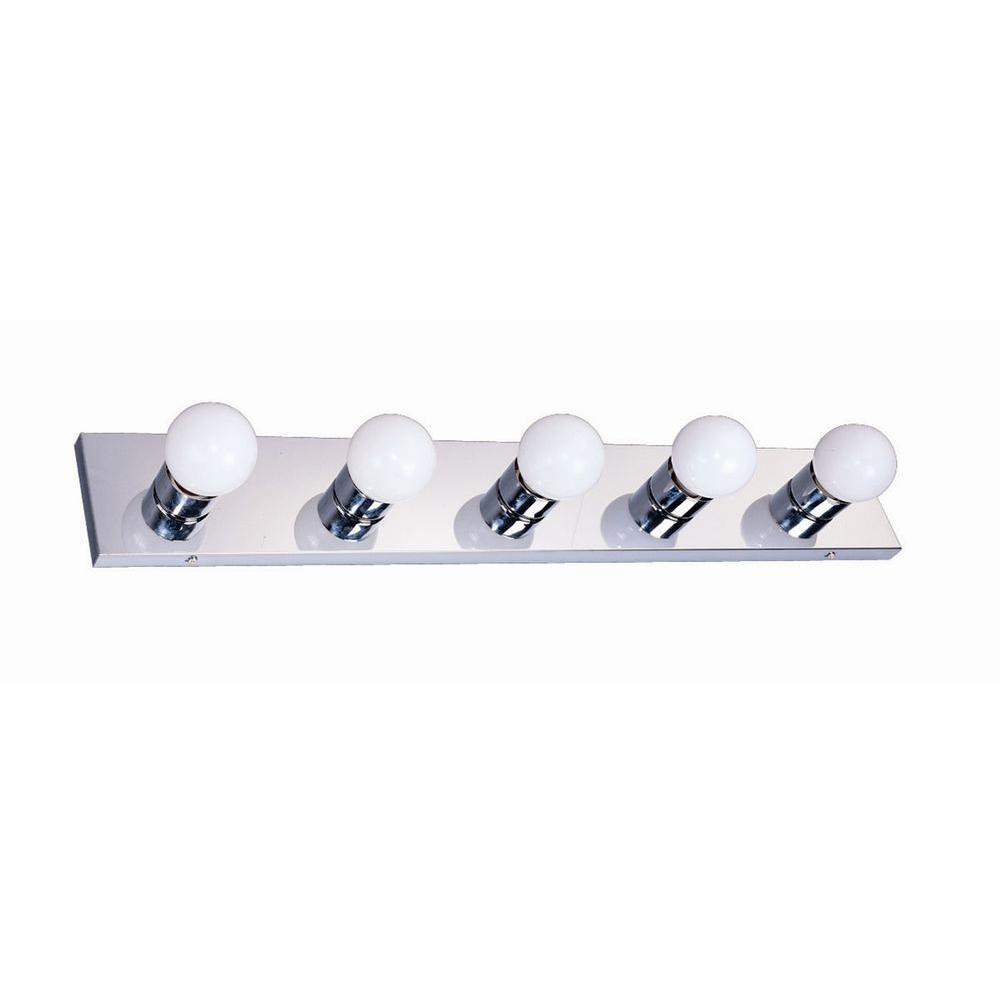Design House 5-Light Polished Chrome Vanity Light