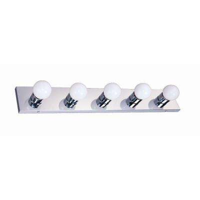 5-Light Polished Chrome Vanity Light
