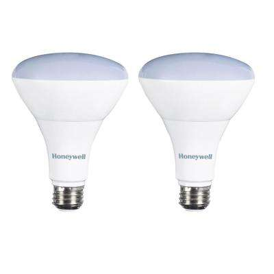 65W Equivalent Warm White BR30 Dimmable Led Light Bulb (2-Pack)