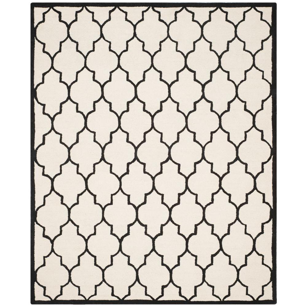 Cambridge Ivory/Black 6 ft. x 9 ft. Area Rug
